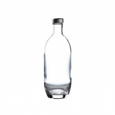 Bottle with silver twist cap 24.75oz