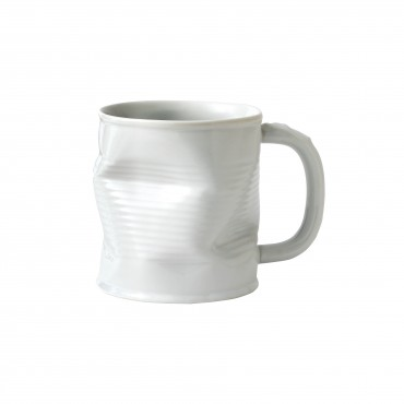 Squashed Tin Can Mug White 7oz