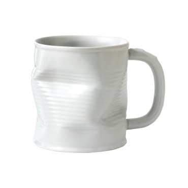 Squashed Tin Can Mug White 11oz