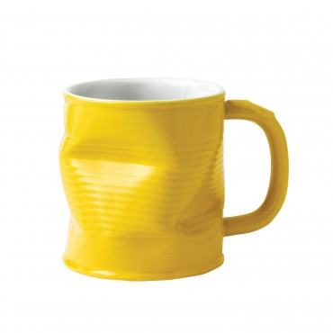 Squashed Tin Can Mug Yellow 11oz