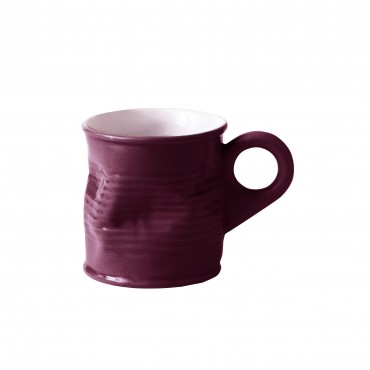 Squashed Tin Can Espresso shot Mug Purple 2.5oz