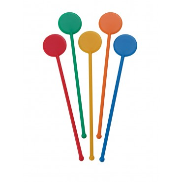 "6"" Disc Stirrers - Multi Colours"
