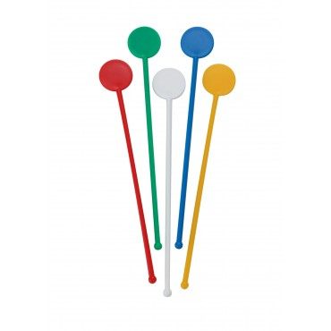 "7"" Disc Stirrers - Assorted Colours"