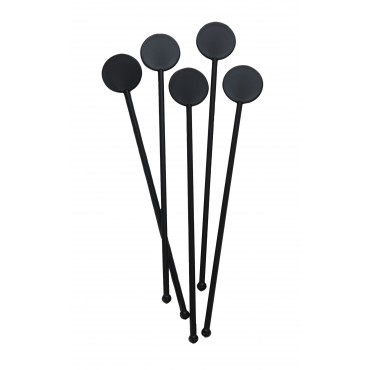 "7"" Disc Stirrers - Black"