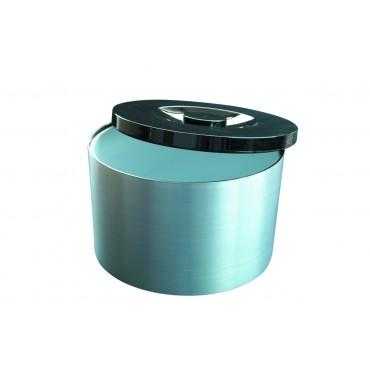 Plastic Ice Bucket Brushed Aluminium effect 10Ltr