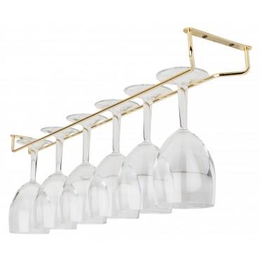 """Glass Hanger 24"""" Brass"""
