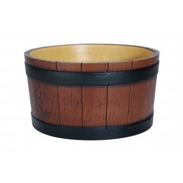 Barrel End Ice Tub - Wood Grain 11Ltr