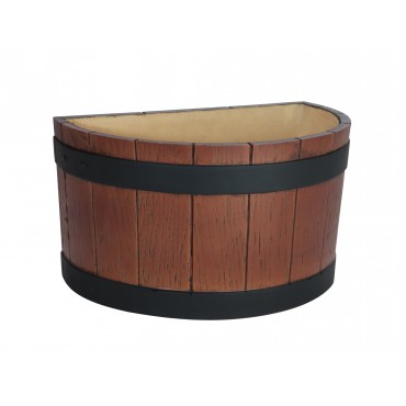 Half Barrel End Ice Tub - Wood Grain 7Ltr