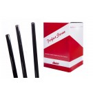 "Black Straight 8"" Straws"